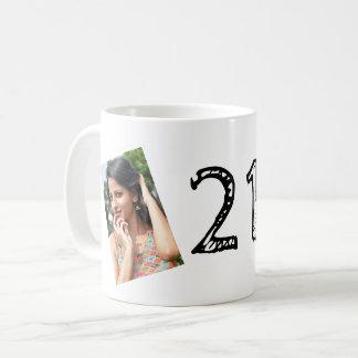 21ème Tasse de PHOTO d'anniversaire