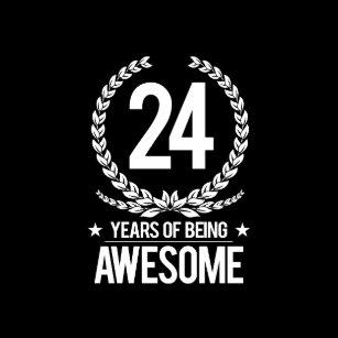 24ste Verjaardag Stickers Zazzle Be