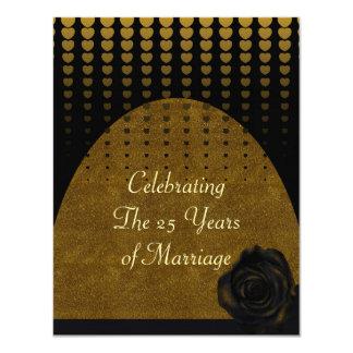 25 ans de mariage carton d'invitation 10,79 cm x 13,97 cm