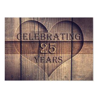 25 ans de mariage d'invitations uniques carton d'invitation  12,7 cm x 17,78 cm