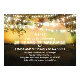 25 uitnodigingen van de huwelijksverjaardag -