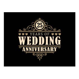 25ème Anniversaire de mariage Carte Postale