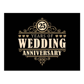 25ème Anniversaire de mariage Cartes Postales