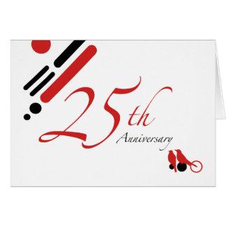 25ème Anniversaire (oiseaux de mod) Carte De Correspondance