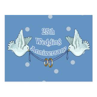 25ème Cadeaux d'anniversaire de mariage Carte Postale