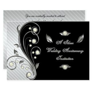 25ème Carte d'invitation de l'anniversaire de