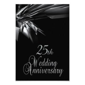 25ème invitation chique d'anniversaire de mariage