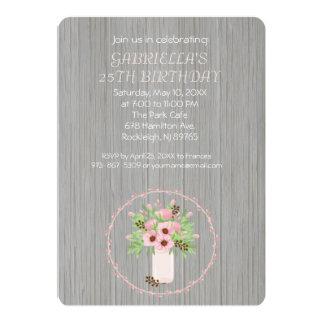 25ème invitation d'anniversaire de bouquet
