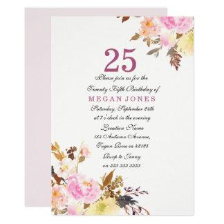 25ème invitation d'anniversaire de manuscrit
