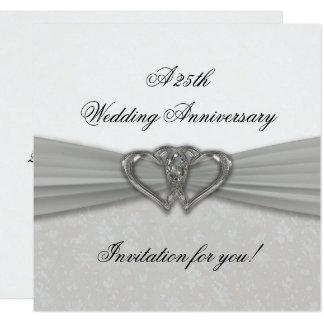 25ème invitation d'anniversaire de mariage de