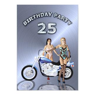 25ème Invitation de fête d'anniversaire avec une