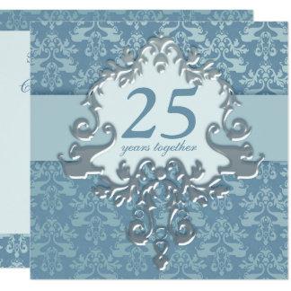 25ème Invitation de fête d'anniversaire de noces