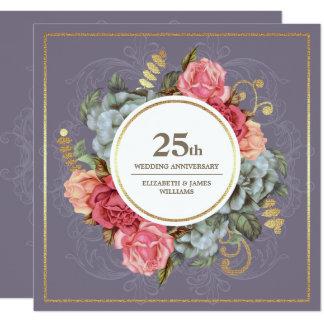 25ème Invitations de fête d'anniversaire de
