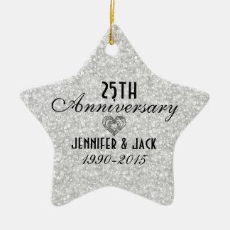 25ème ornement d'anniversaire de mariage de