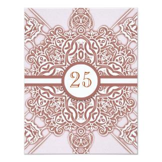 25èmes invitations chics vintages d'anniversaire