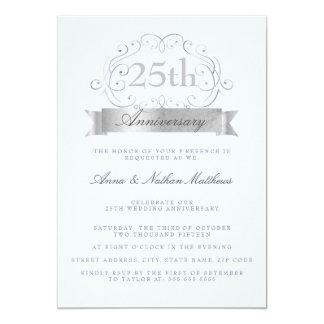25èmes invitations d'anniversaire de mariage