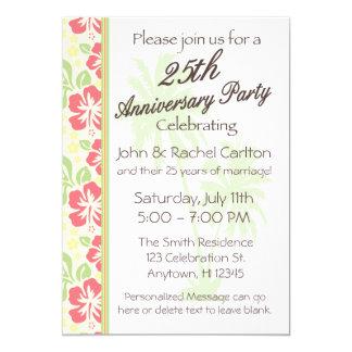 25èmes invitations hawaïennes de fête