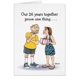 26ème Carte d'anniversaire de mariage : Amour