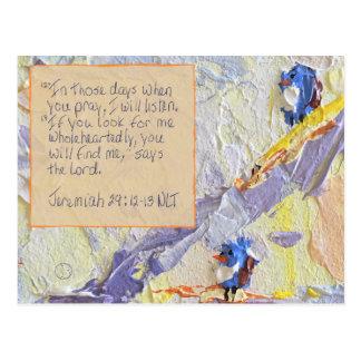 29:12 de Jérémie de carte d'écriture sainte - 13