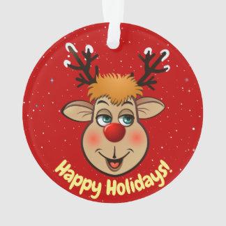 2 bandes dessinées mignonnes de renne de Noël