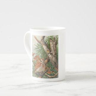 2 hiboux vintages fâchés dans un arbre mug