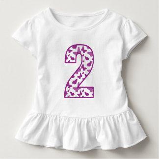 2ème anniversaire de papillon t-shirt pour les tous petits