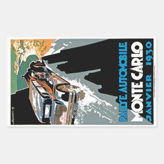 2ème Automobile De Monte Carlo de Grand prix Sticker Rectangulaire