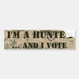 2ème Chasseur et électeur d'amendement Autocollant De Voiture