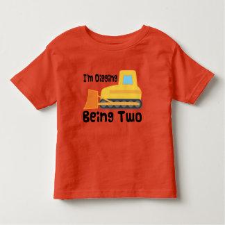2ème Enfant en bas âge de camion de construction T-shirt Pour Les Tous Petits