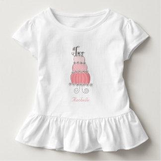 2ème fête d'anniversaire de la fille rose t-shirt pour les tous petits
