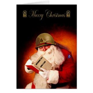 2ÈME GUERRE MONDIALE Père Noël Carte De Vœux