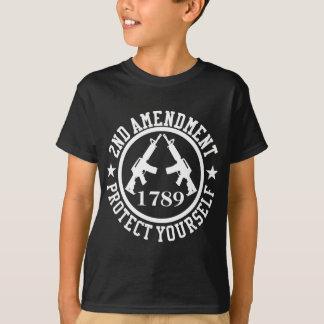 2ème L'amendement AR-15 se protègent blancs T-shirt