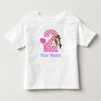 2ème T-shirt personnalisé par cow-girl de fille