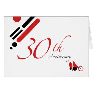 30ème Anniversaire (oiseaux de mod) Carte De Vœux