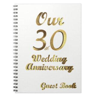 30ème Blanc d'or de livre d'invité d'anniversaire