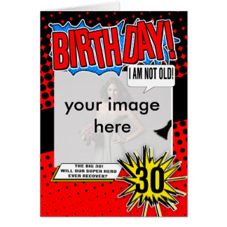 30ème Carte d'anniversaire - super héros