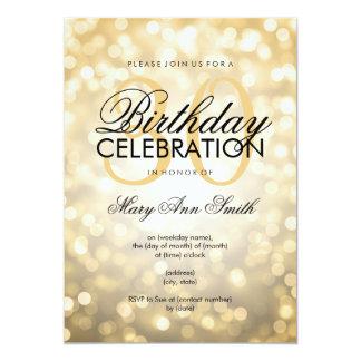 30èmes lumières élégantes de scintillement d'or de carton d'invitation  12,7 cm x 17,78 cm