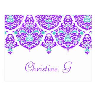 311 lundi Cherie Christine. Carte nominative