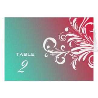 311-Swanky tourbillonne rêve de turquoise de Carte