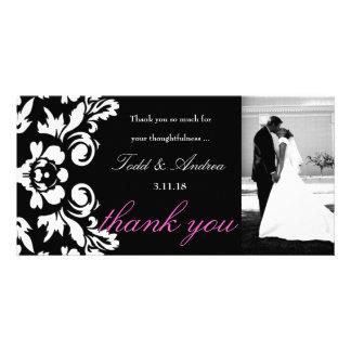 311-wit dankt het Huwelijk van het Damast u de Kaa fotokaarten