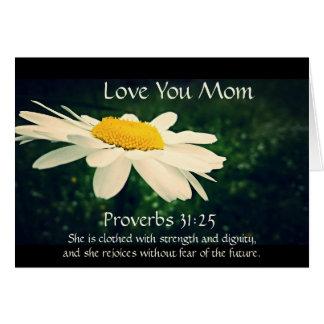 31:25 de proverbes, le jour de mère, coutume de carte