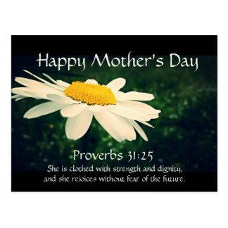 31:25 de proverbes, le jour de mère, coutume de carte postale