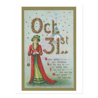 31 octobre reproduction vintage de carte postale
