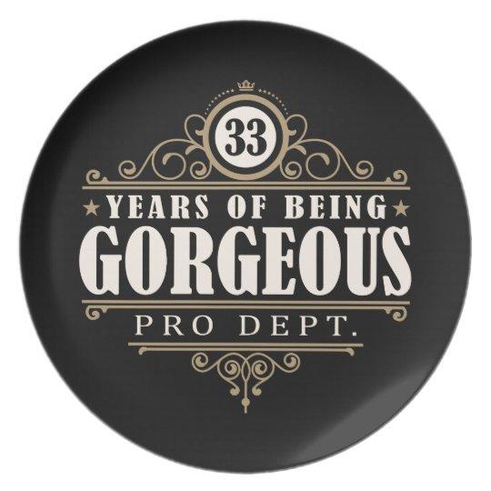 33ste Verjaardag 33 Jaar Van Schitterend Het Bord Zazzle Be