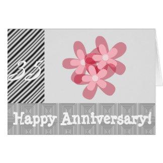 35ste huwelijksverjaardag wenskaart
