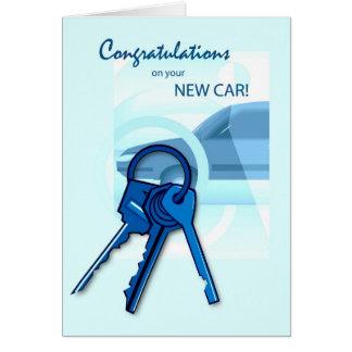 3717 félicitations sur la nouvelle voiture carte