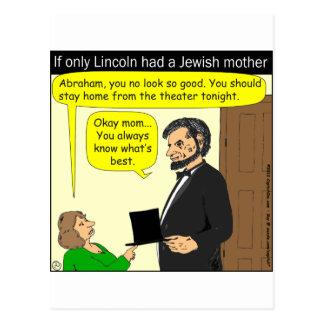 381 Abe Lincoln ont eu besoin d'une mère juive - Carte Postale