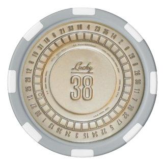 38 vrais jetons de poker chanceux