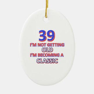 39 conceptions d'anniversaire ornement ovale en céramique