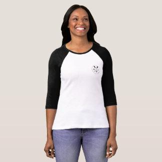 3/4 T-shirt de raglan de la douille des femmes